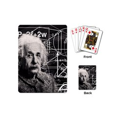Albert Einstein Playing Cards (mini)  by Valentinaart