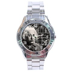 Albert Einstein Stainless Steel Analogue Watch by Valentinaart