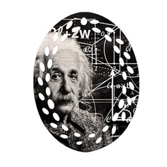 Albert Einstein Ornament (oval Filigree) by Valentinaart