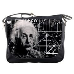 Albert Einstein Messenger Bags by Valentinaart