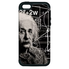 Albert Einstein Apple Iphone 5 Hardshell Case (pc+silicone) by Valentinaart