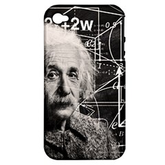 Albert Einstein Apple Iphone 4/4s Hardshell Case (pc+silicone) by Valentinaart