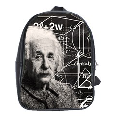 Albert Einstein School Bags (xl)  by Valentinaart