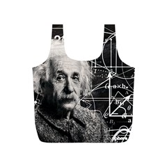Albert Einstein Full Print Recycle Bags (s)  by Valentinaart