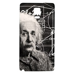 Albert Einstein Galaxy Note 4 Back Case by Valentinaart