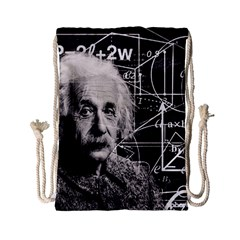 Albert Einstein Drawstring Bag (small) by Valentinaart