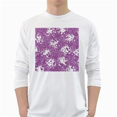 Pattern White Long Sleeve T Shirts by Valentinaart