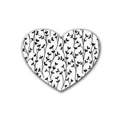 Pattern Rubber Coaster (heart)  by Valentinaart