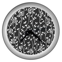 Pattern Wall Clocks (silver)  by Valentinaart