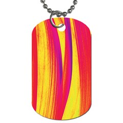 Pattern Dog Tag (one Side) by Valentinaart