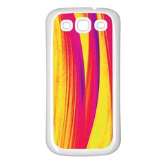 Pattern Samsung Galaxy S3 Back Case (white) by Valentinaart