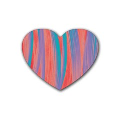 Pattern Rubber Coaster (heart)  by Valentinaart
