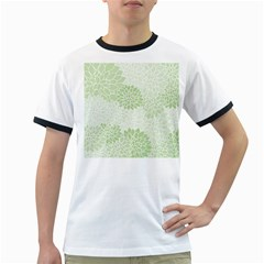 Floral Pattern Ringer T Shirts by Valentinaart