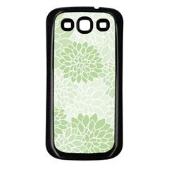 Floral Pattern Samsung Galaxy S3 Back Case (black) by Valentinaart