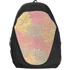 Floral Pattern Backpack Bag by Valentinaart