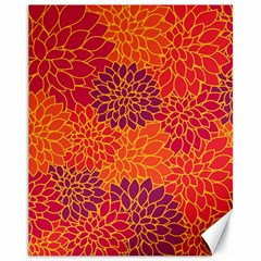 Floral Pattern Canvas 11  X 14   by Valentinaart