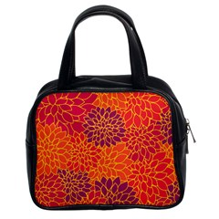 Floral Pattern Classic Handbags (2 Sides) by Valentinaart