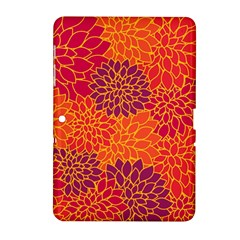Floral Pattern Samsung Galaxy Tab 2 (10 1 ) P5100 Hardshell Case  by Valentinaart