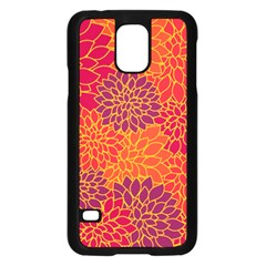 Floral Pattern Samsung Galaxy S5 Case (black) by Valentinaart