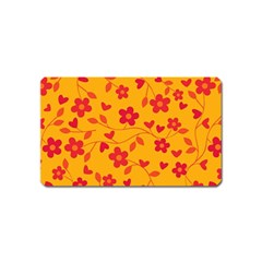 Floral Pattern Magnet (name Card) by Valentinaart