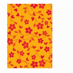 Floral Pattern Large Garden Flag (two Sides) by Valentinaart