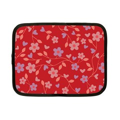 Floral Pattern Netbook Case (small)  by Valentinaart