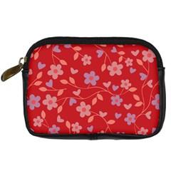 Floral Pattern Digital Camera Cases by Valentinaart