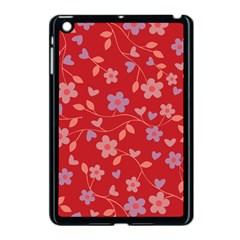 Floral pattern Apple iPad Mini Case (Black)