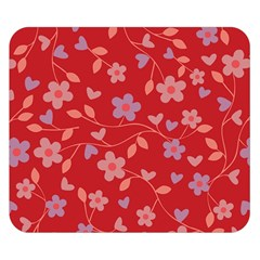 Floral pattern Double Sided Flano Blanket (Small)