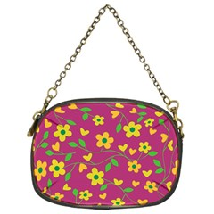 Floral Pattern Chain Purses (two Sides)  by Valentinaart