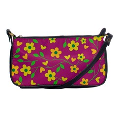 Floral Pattern Shoulder Clutch Bags by Valentinaart