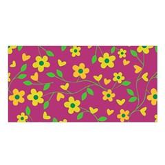 Floral Pattern Satin Shawl by Valentinaart