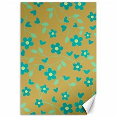 Floral Pattern Canvas 24  X 36  by Valentinaart
