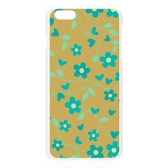 Floral pattern Apple Seamless iPhone 6 Plus/6S Plus Case (Transparent) by Valentinaart