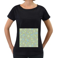 Floral Pattern Women s Loose Fit T Shirt (black) by Valentinaart