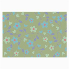 Floral Pattern Large Glasses Cloth by Valentinaart