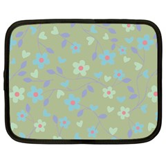 Floral Pattern Netbook Case (xl)  by Valentinaart