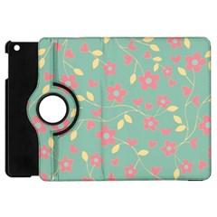 Floral Pattern Apple Ipad Mini Flip 360 Case by Valentinaart