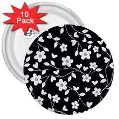 Floral Pattern 3  Buttons (10 Pack)  by Valentinaart