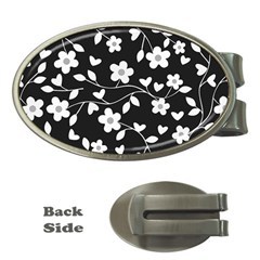 Floral Pattern Money Clips (oval)  by Valentinaart