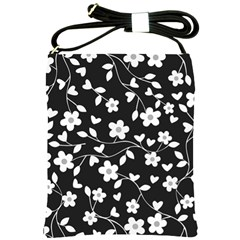 Floral Pattern Shoulder Sling Bags by Valentinaart