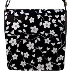 Floral Pattern Flap Messenger Bag (s) by Valentinaart