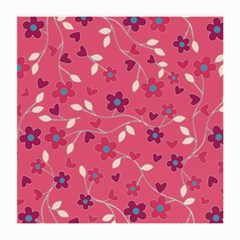 Floral Pattern Medium Glasses Cloth by Valentinaart
