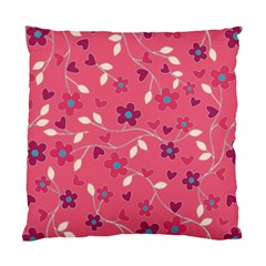 Floral Pattern Standard Cushion Case (two Sides) by Valentinaart