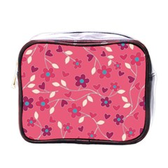 Floral Pattern Mini Toiletries Bags by Valentinaart