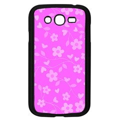 Floral Pattern Samsung Galaxy Grand Duos I9082 Case (black) by Valentinaart