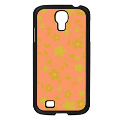 Floral Pattern Samsung Galaxy S4 I9500/ I9505 Case (black) by Valentinaart
