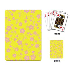Floral Pattern Playing Card by Valentinaart