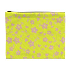 Floral Pattern Cosmetic Bag (xl) by Valentinaart