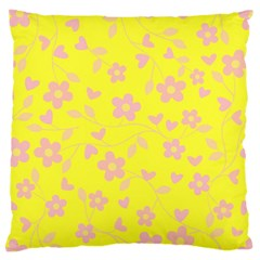 Floral Pattern Large Cushion Case (two Sides) by Valentinaart